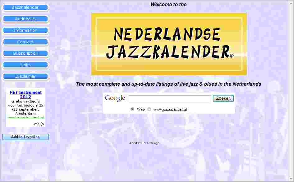 jazzkalender website